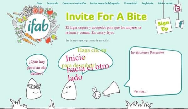 invite for a bite para mujeres viajeras
